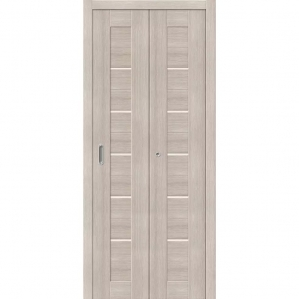 """Складная дверь-книга """"Амати 01"""" Капучино"""