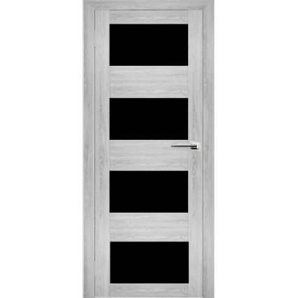 """Дверь межкомнатная """"Амати 02"""" Сканди (Черное стекло)"""