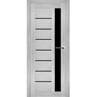 """Дверь межкомнатная """"Амати 04"""" Сканди (Черное стекло)"""