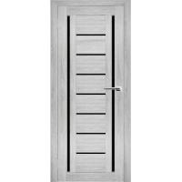 """Дверь межкомнатная """"Амати 06"""" Сканди (Черное стекло)"""