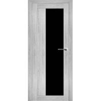 """Дверь межкомнатная """"Амати 09"""" Сканди (Черное стекло)"""