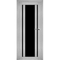 """Дверь межкомнатная """"Амати 11"""" Сканди (Черное стекло)"""