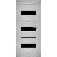 """Дверь межкомнатная """"Амати 12"""" Сканди (Черное стекло)"""