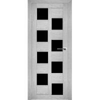 """Дверь межкомнатная """"Амати 13"""" Сканди (Черное стекло)"""