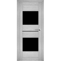 """Дверь межкомнатная """"Амати 16"""" Сканди (Черное стекло)"""