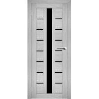 """Дверь межкомнатная """"Амати 17"""" Сканди (Черное стекло)"""