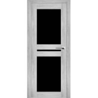 """Дверь межкомнатная """"Амати 19"""" Сканди (Черное стекло)"""