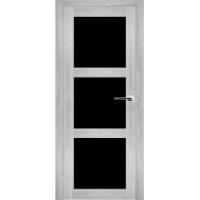 """Дверь межкомнатная """"Амати 20"""" Сканди (Черное стекло)"""