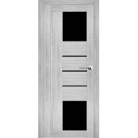 """Дверь межкомнатная """"Амати 21"""" Сканди (Черное стекло)"""