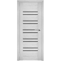 """Дверь межкомнатная """"Амати 25"""" Сканди (Черное стекло)"""