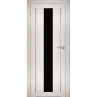 """Дверь межкомнатная """"Амати 05"""" Эшвайт (Черное стекло)"""