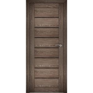 "Дверь межкомнатная ""Амати 01"" Дуб шале корица (Черное стекло)"