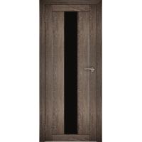 "Дверь межкомнатная ""Амати 05"" Дуб шале корица (Черное стекло)"