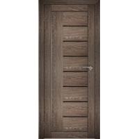 "Дверь межкомнатная ""Амати 07"" Дуб шале корица (Черное стекло)"