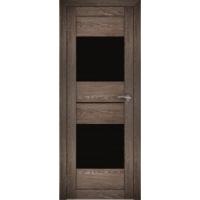 "Дверь межкомнатная ""Амати 16"" Дуб шале корица (Черное стекло)"