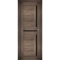 "Дверь межкомнатная ""Амати 18"" Дуб шале корица (Черное стекло)"
