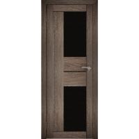 "Дверь межкомнатная ""Амати 22"" Дуб шале корица (Черное стекло)"