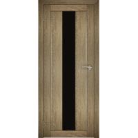 """Дверь межкомнатная """"Амати 05"""" Дуб шале натуральный (Черное стекло)"""