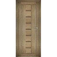 """Дверь межкомнатная """"Амати 10"""" Дуб шале натуральный (Черное стекло)"""