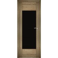 """Дверь межкомнатная """"Амати 14"""" Дуб шале натуральный (Черное стекло)"""