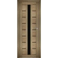 """Дверь межкомнатная """"Амати 17"""" Дуб шале натуральный (Черное стекло)"""