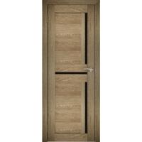 """Дверь межкомнатная """"Амати 18"""" Дуб шале натуральный (Черное стекло)"""