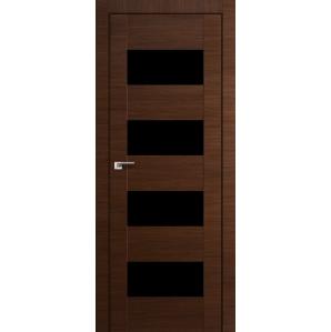 Дверной блок в сборе с фурнитурой ЭкоШпон Амати02/ Орех 75х205 см, черное стекло, левая - снята с производства