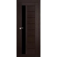 """Дверь межкомнатная """"Амати 04"""" Венге (Черное стекло)"""