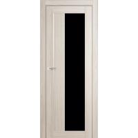 """Дверь межкомнатная """"Амати 09"""" Дуб Беленый (Черное стекло)"""