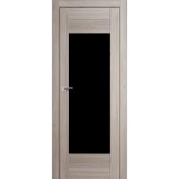 """Дверь межкомнатная """"Амати 14"""" Дуб Дымчатый (Черное стекло)"""