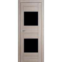 """Дверь межкомнатная """"Амати 16"""" Дуб Дымчатый (Черное стекло)"""