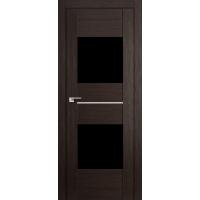 """Дверь межкомнатная """"Амати 16"""" Венге (Черное стекло)"""