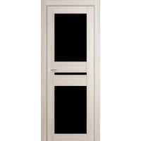 """Дверь межкомнатная """"Амати 19"""" Дуб Беленый (Черное стекло)"""