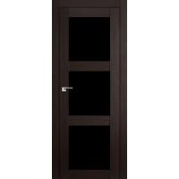 """Дверь межкомнатная """"Амати 20"""" Венге (Черное стекло)"""