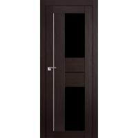 """Дверь межкомнатная """"Амати 22"""" Венге (Черное стекло)"""