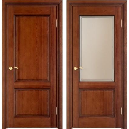 """Дверь межкомнатная """"М13"""" ПО Орех 15%"""