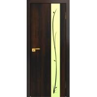 """Дверь """"АИР 45"""" 70см Венге (Белое стекло)"""