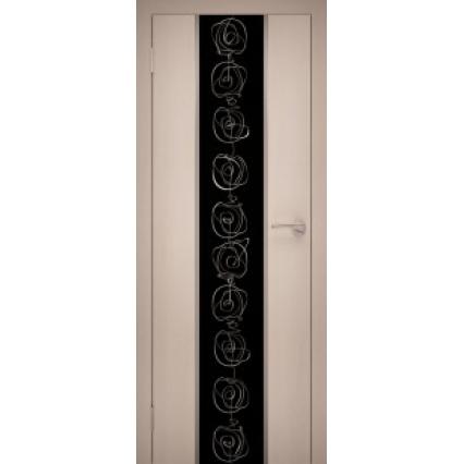 """Дверь межкомнатная """"Chrome 01"""" Дуб Беленый"""