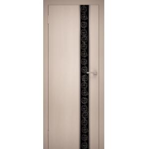 """Дверь межкомнатная """"Chrome 02"""" Дуб Беленый"""