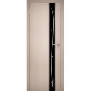 """Дверь межкомнатная """"Chrome 04"""" Дуб Беленый"""