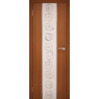 """Дверь межкомнатная """"Chrome 01"""" Орех Итальянский"""