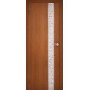 """Дверь межкомнатная """"Chrome 02"""" Орех Итальянский"""