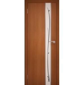 """Дверь межкомнатная """"Chrome 04"""" Орех Итальянский"""