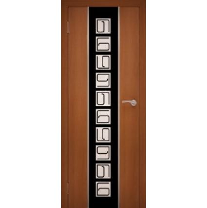 """Дверь межкомнатная """"Chrome 05"""" Орех Итальянский"""