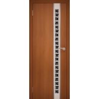"""Дверь межкомнатная """"Chrome 06"""" Орех Итальянский"""