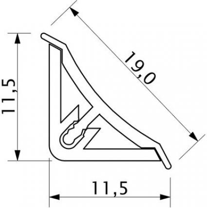 Плинтус кухонный AP494 и комплектующие (узкий)