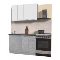 Кухня ПЛАСТИК 1,2 (Мрамор/ Белый)