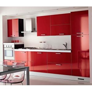 4. Кухня ПЛАСТИК Красный
