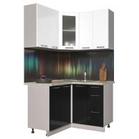Кухня ПЛАСТИК 1,2х1,2 (Черный/ Белый)