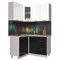Кухня ПЛАСТИК 1,2х1,4 (Черный/ Белый)
